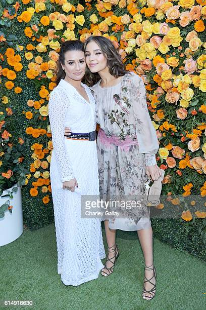 Actresses Lea Michele and Olivia Culpo attend the Seventh Annual Veuve Clicquot Polo Classic Los Angeles at Will Rogers State Historic Park on...