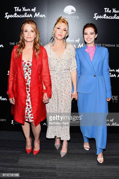Actresses Lea Thompson Madelyn Deutch and Zoey Deutch attends 'The Year Of Spectacular Men' New York Premiere at The Landmark at 57 West on June 13...
