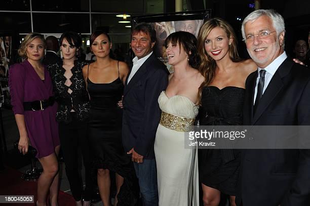 Actresses Leah Pipes Rumer Willis Briana Evigan Summit Excutive Patrick Wachsberger Margo Harshman Audrina Patridge and Summit Executive Rob Friedman...