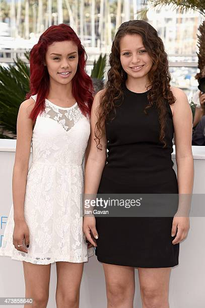Actresses Leidi Gutierrez and Nancy Talamantes attend the Las Elegidas Photocall during the 68th annual Cannes Film Festival on May 18 2015 in Cannes...