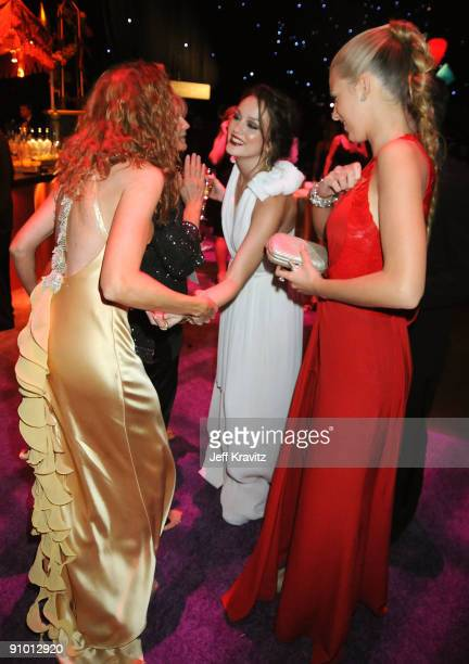 Actresses Leighton Meester and Blake Lively attend the Governors Ball for the 61st Primetime Emmy Awards held at the Los Angeles Convention Center on...