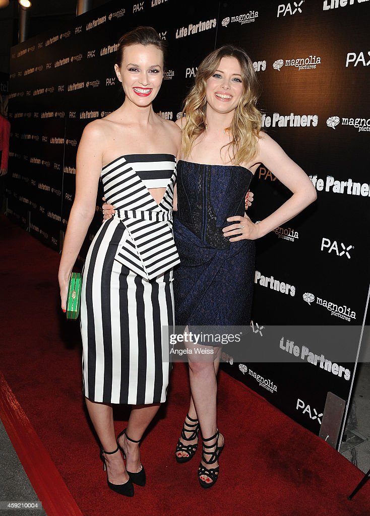 Actresses Leighton Meester and Gillian Jacobs arrive at the premiere of Magnolia Pictures' 'Life Partners' at ArcLight Hollywood on November 18, 2014 in Hollywood, California.