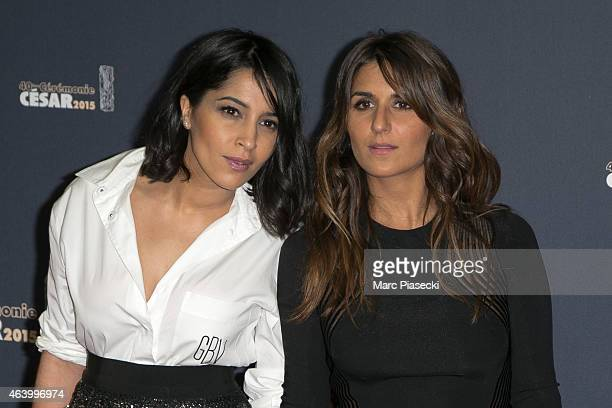 Actresses Leila Bekhti and Geraldine Nakache attend the Cesar Film Awards at Theatre du Chatelet on February 20 2015 in Paris France