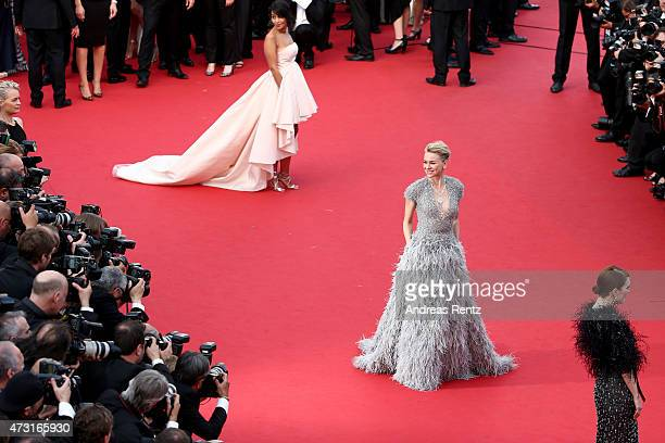 Actresses Leila Bekhti and Naomi Watts attend the opening ceremony and premiere of La Tete Haute during the 68th annual Cannes Film Festival on May...