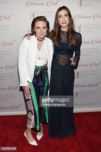 Actresses Lena Dunham and Allison Williams arrive at the 8th Annual Blossom Ball benefiting the Endometriosis Foundation of America hosted by EFA...