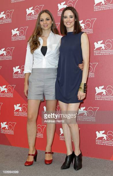 Actresses Leonor Watling and Pilar Lopez De Ayala attend the Lope photocall during the 67th Venice Film Festival on September 11 2010 at the Palazzo...