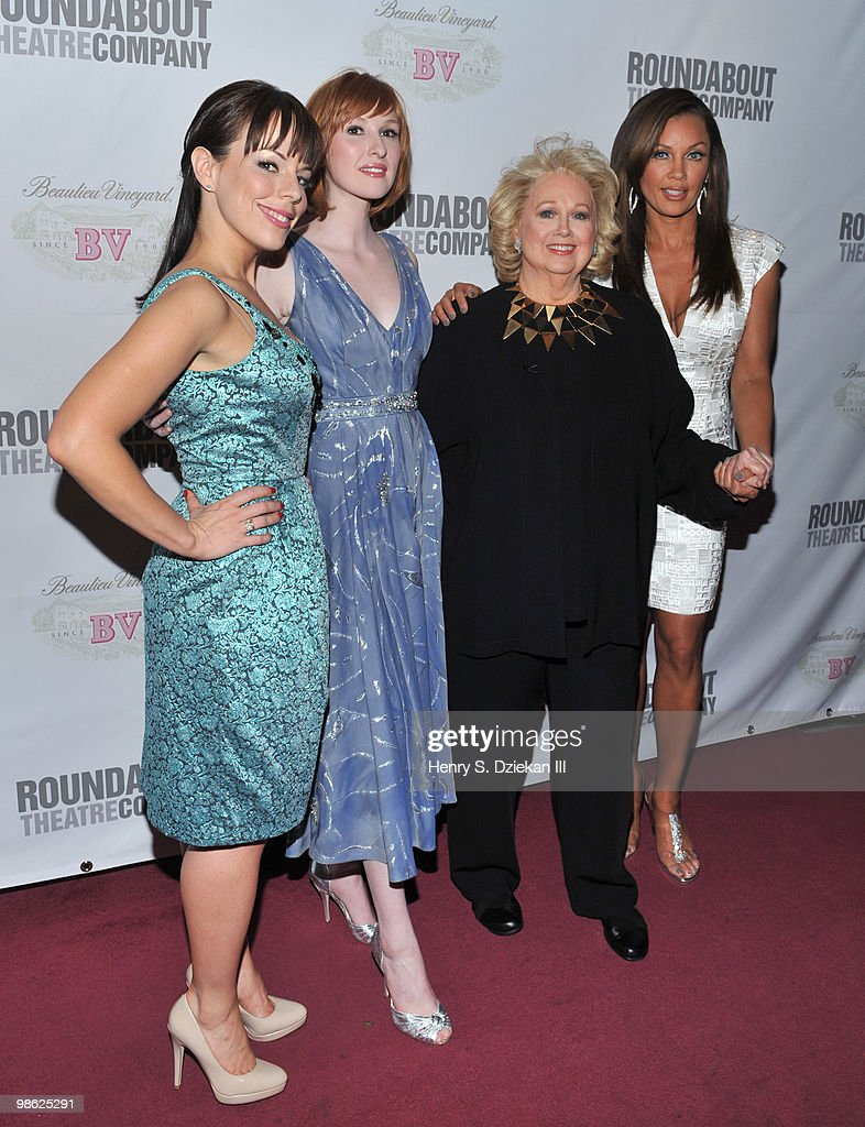 Actresses Leslie Kritzer, Erin Mackey, Barbara Cook and Vanessa Williams attends the opening night after party of 'Sondheim on Sondheim' at Studio 54 on April 22, 2010 in New York, New York.
