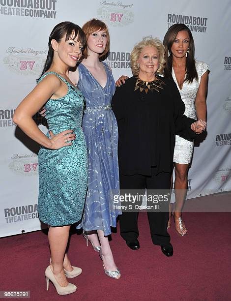 Actresses Leslie Kritzer Erin Mackey Barbara Cook and Vanessa Williams attends the opening night after party of Sondheim on Sondheim at Studio 54 on...