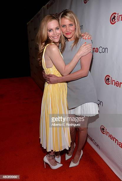 Actresses Leslie Mann and Cameron Diaz attend 20th Century Fox's Special Presentation Highlighting Its Future Release Schedule during CinemaCon the...