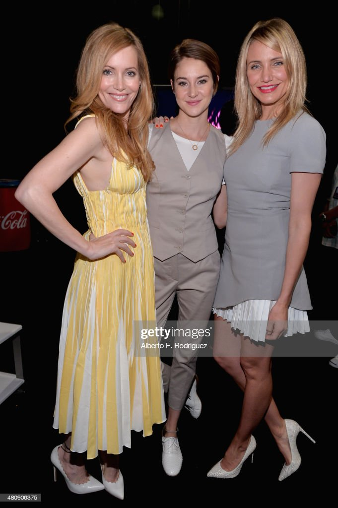 Actresses Leslie Mann, Shailene Woodley and Cameron Diaz attend 20th Century Fox's Special Presentation Highlighting Its Future Release Schedule during CinemaCon, the official convention of the National Association of Theatre Owners, at The Colosseum at Caesars Palace on March 27, 2014 in Las Vegas, Nevada.