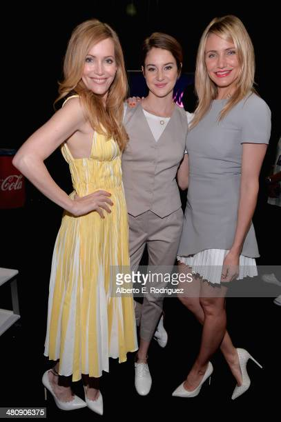 Actresses Leslie Mann Shailene Woodley and Cameron Diaz attend 20th Century Fox's Special Presentation Highlighting Its Future Release Schedule...