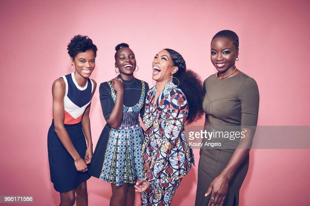 Actresses Letitia Wright Lupita Nyong'o Angela Bassett and Danai Gurira are photographed for Entertainment Weekly Magazine on January 30 2018 in Los...