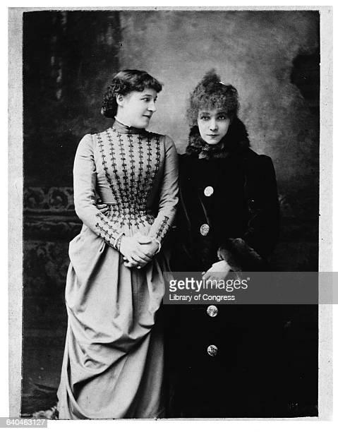 Actresses Lillie Langtry and Sarah Bernhardt