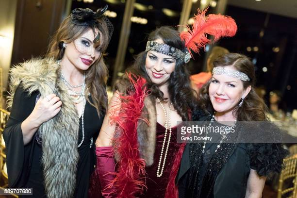 Actresses Lilly Melgar her sister and Kira Reed Lorsch attend The Thalians Hollywood for Mental Health Holiday Party 2017 at the Bel Air Country Club...