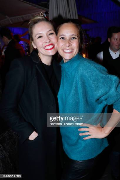 Actresses Lilou Fogli and Julie de Bona attend the Inauguration of the Chalet Les Neiges Courchevel on the terrace of the Hotel Barriere Le Fouquet's...