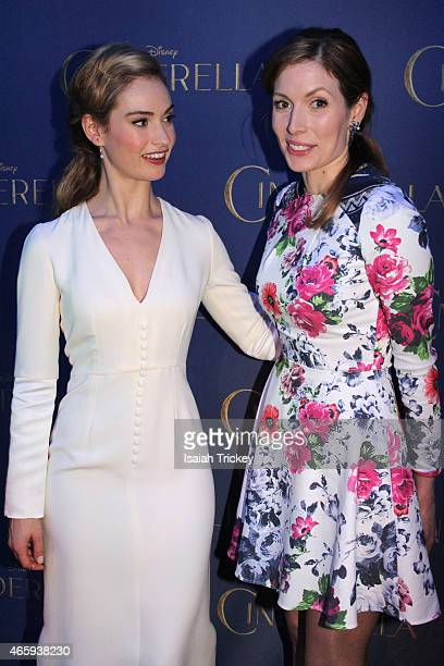Actresses Lily James and Lauren Hammersley attend the Toronto Special screening of Disney's 'Cinderella' held at Scotiabank Theatre on March 11 2015...