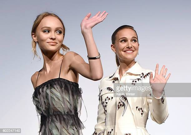 Actresses LilyRose Depp and Natalie Portman attend the Planetarium premiere during the 2016 Toronto International Film Festival at Roy Thomson Hall...