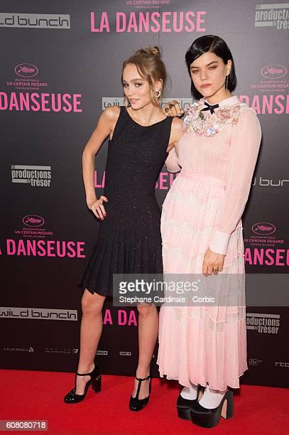 Actresses LilyRose Depp and Soko attend the La Danseuse Paris Premiere at Cinema Gaumont Opera on September 19 2016 in Paris France