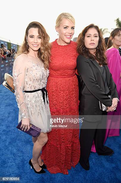 Actresses Linda Cardellini Busy Phillips and Maura Tierney attend The 22nd Annual Critics' Choice Awards at Barker Hangar on December 11 2016 in...