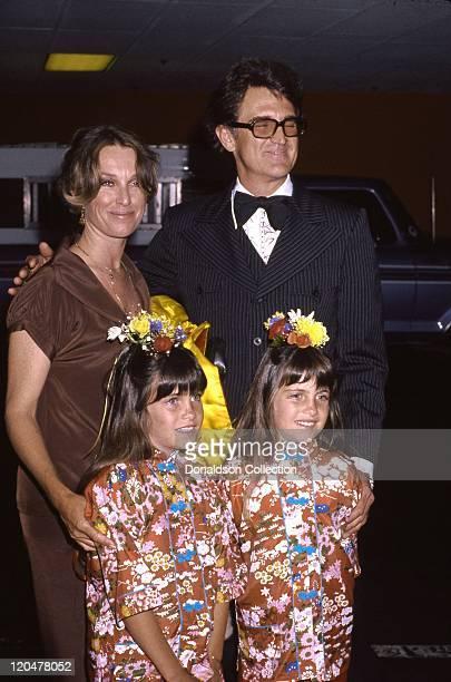 Actresses Lindsay and Sidney Greenbush who jointly played Carrie Ingalls on 'Little house on the Prairie' attend an event with their parents actor...