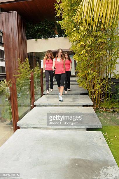 Actresses Lindsay Price Emmy Rossum and Anna Kendrick attend the Reebok Women's Fitness event on June 16 2010 in Los Angeles California