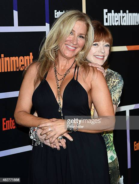 Actresses Lisa Ann Walter and Frances Fisher attend Entertainment Weekly's annual ComicCon celebration at Float at Hard Rock Hotel San Diego on July...