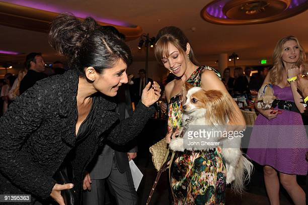 Actresses Lisa Edelstein and Autumn Reeser at the Best Friends Animal Society's 2009 Lint Roller Party at the Hollywood Palladium on October 3 2009...