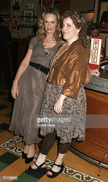 Actresses Lisa Emery and Claudia Shear attend the after-party for their Off-Broadway revival of The Prime Of Miss Jean Brodie at Pigalle's restaurant...