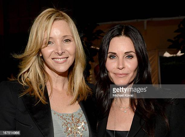 Actresses Lisa Kudrow and Courteney Cox attend PS ARTS Presents LA Modernism Show Opening Night at The Barker Hanger on April 25 2013 in Santa Monica...