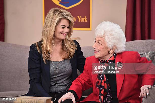 """Actresses Lisa Whelchel and Charlotte Rae attend Hallmark's Home and Family """"Facts Of Life Reunion"""" at Universal Studios Backlot on February 12, 2016..."""