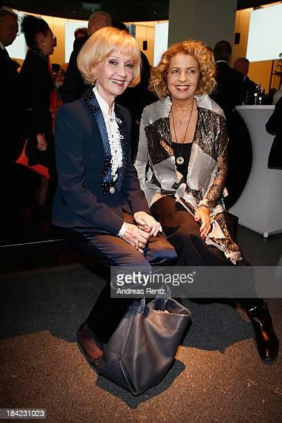 Actresses Liselotte Pulver and Michaela May attend the Steiger Award 2013 at Dortmunder U on October 12 2013 in Dortmund Germany