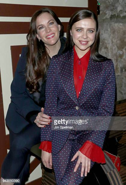 Actresses Liv Tyler and Bel Powley attend the screening after party for IFC Midnight's 'Wildling' hosted by The Cinema Society and Gemfields at Alley...