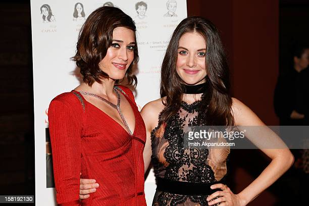 Actresses Lizzy Caplan and Alison Brie attend the screening of 'Save The Date' on December 10, 2012 in Los Angeles, California.