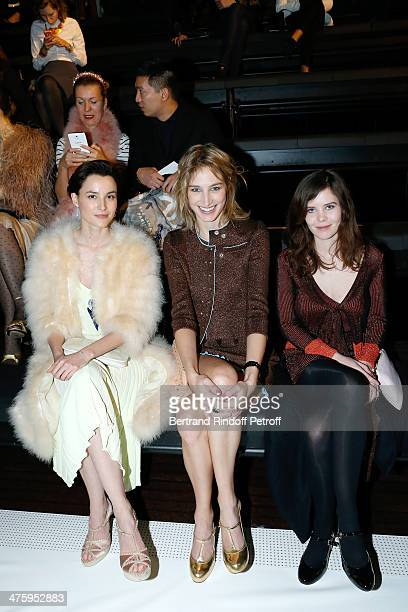Actresses Loan Chabanol Pauline Lefevre and Lou Lesage attend the Sonia Rykiel show as part of the Paris Fashion Week Womenswear Fall/Winter 20142015...