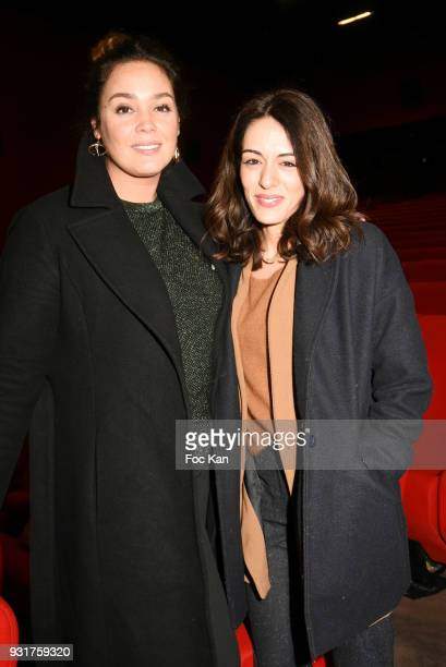 Actresses Lola Dewaere and Sofia Essaidi attend 'Mobile Film Festival 2018' at Mk2 Bibliotheque on March 13 2018 in Paris France