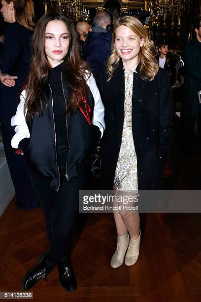 Actresses Lola Le Lann and Melanie Thierry attend the Stella McCartney show as part of the Paris Fashion Week Womenswear Fall/Winter 2016/2017 Held...