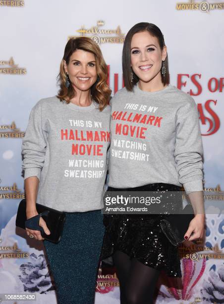 Actresses Lori Loughlin and Erin Krakow arrive at the Hallmark Channel Once Upon A Christmas Miracle screening and holiday party at 189 by Dominique...
