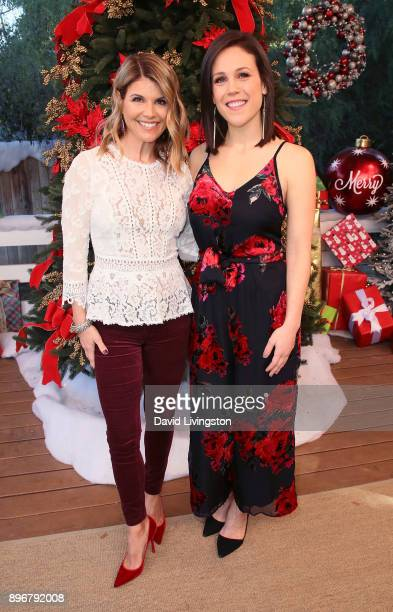 Actresses Lori Loughlin and Erin Krakow visit Hallmark's 'Home Family' at Universal Studios Hollywood on December 21 2017 in Universal City California