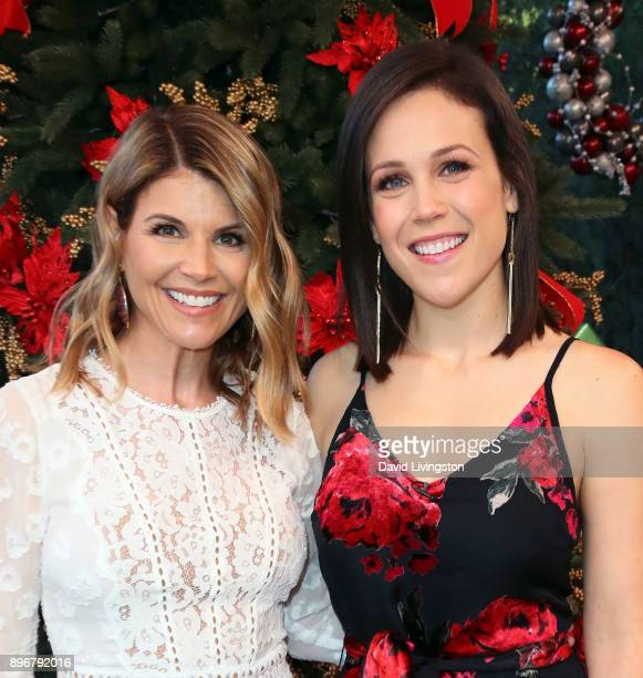 Actresses Lori Loughlin and Erin Krakow visit Hallmark's Home Family at Universal Studios Hollywood on December 21 2017 in Universal City California