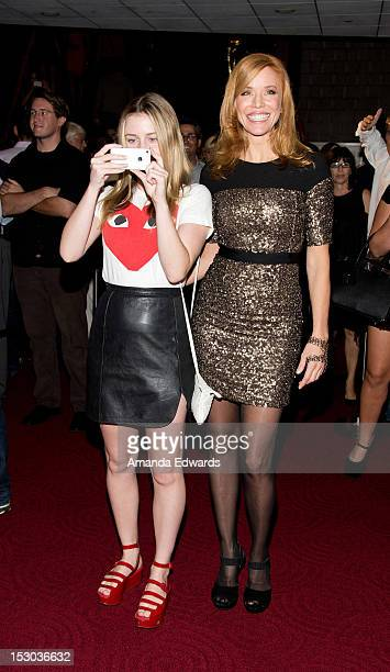 Actresses Lorraine Nicholson and Kristen Dalton attend the Los Angeles Premiere of The Cottage at the Academy of Motion Picture Arts and Sciences on...