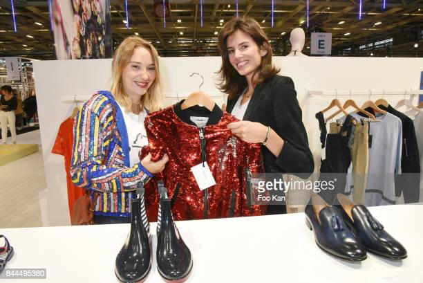 Actresses Louise Monot and Deborah Francois attend Who's Next Opening at Parc des Expositions Porte de Versailles r on September 8 2017 in Paris...