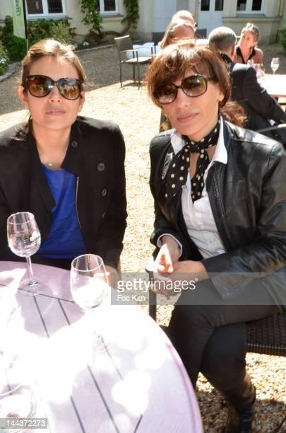 Actresses Louise Monot and Julie Debazac attend the 'Journees Nationales du Livre et du Vin 2012' at Bouvet Ladurey Cellars on May 13, 2012 in...