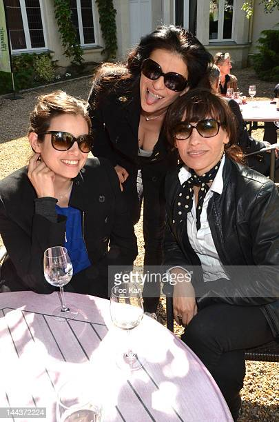 Actresses Louise Monot, Jovanka Sopalovic and Julie Debazac attend the 'Journees Nationales du Livre et du Vin 2012' at Bouvet Ladurey Cellars on May...