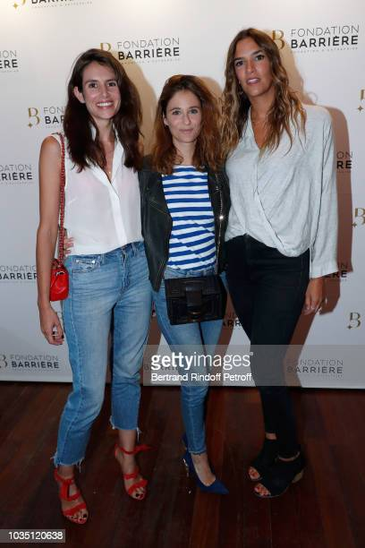 Actresses Louise Monot Melanie Bernier and Charlotte Gabris attend 'Les Chatouilles' Premiere hosted by Fondation Diane Lucien Barriere at Drugstore...