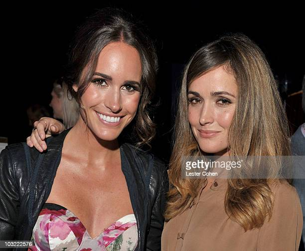 Actresses Louise Roe and Rose Byrne attend the Sony Pictures Television TCA cocktail party at Bar 210 at The Beverly Hilton hotel on August 3 2010 in...