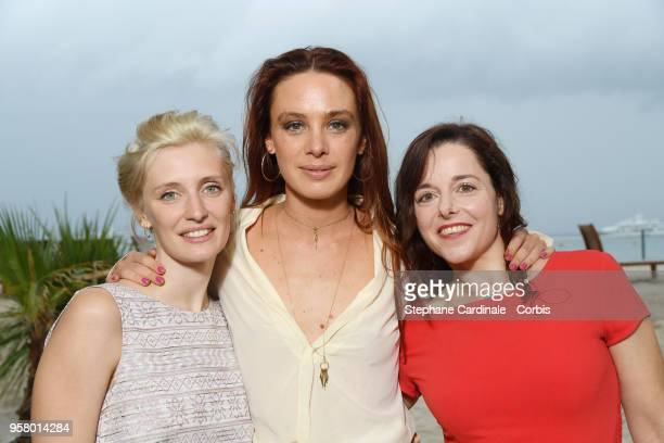 Actresses Lucie Debay Laetitia Dosch and Laure Calamy attend the photocall for Nos Batailles during the 71st annual Cannes Film Festival at Nespresso...
