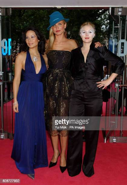 Actresses Lucy Liu, Cameron Diaz and Drew Barrymore, arriving at The Odeon Leicester Square, London, for the UK premiere of Charlie's Angels: Full...