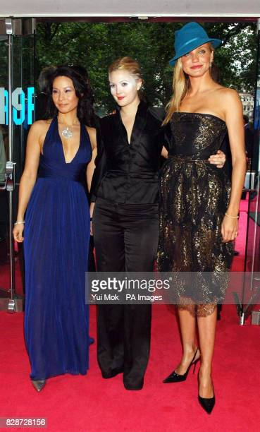 Actresses Lucy Liu, Drew Barrymore and Cameron Diaz, arriving at The Odeon Leicester Square, London, for the UK premiere of Charlie's Angels: Full...