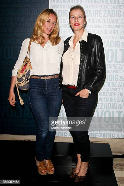 Actresses Ludivine Sagnier and Karin Viard attend the 'Zadig & Voltaire' new perfume launch on June 9, 2016 in Paris, France.
