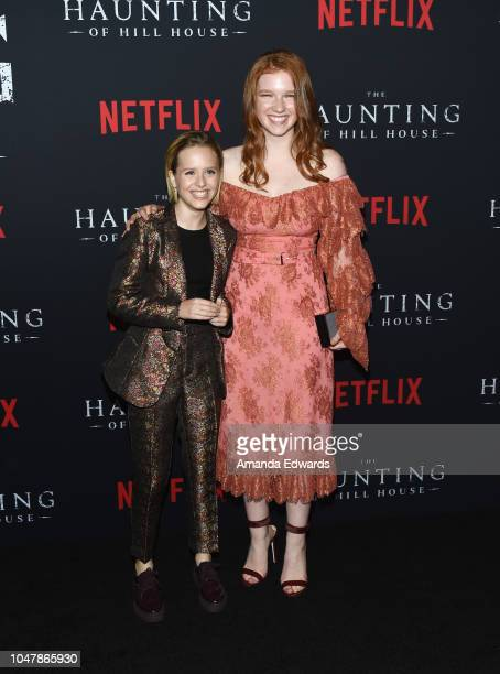Actresses Lulu Wilson and Annalise Basso arrive at Netflix's 'The Haunting Of Hill House' Season 1 Premiere at ArcLight Hollywood on October 8 2018...